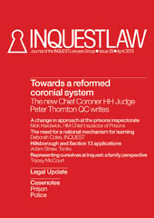 Inquest Law issue 26 (April 2013)